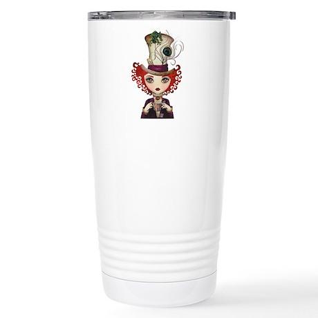 Lady Hatter Stainless Steel Travel Mug