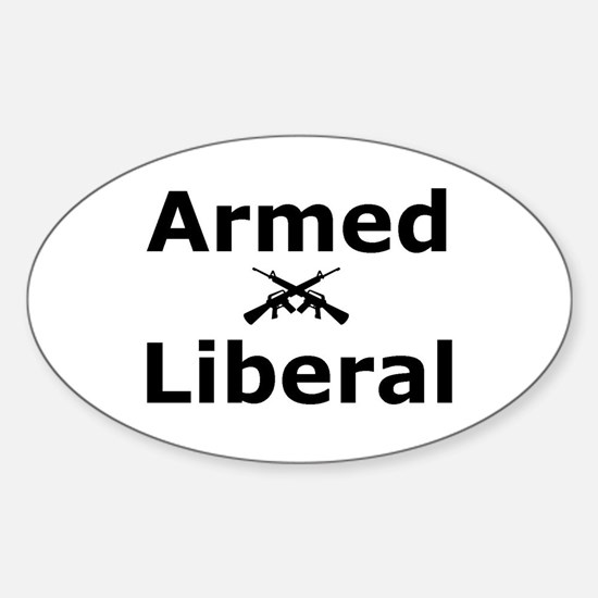 Armed Liberal Oval Decal