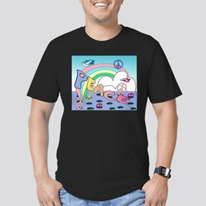 'Max'imum Peace Men's Fitted T-Shirt (dark)