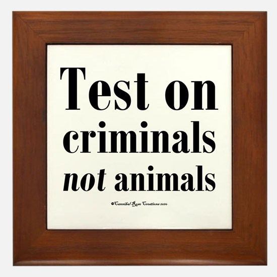 Criminal Behavior Framed Tile