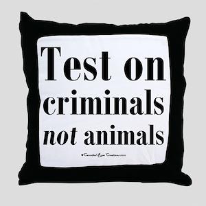 Criminal Behavior Throw Pillow