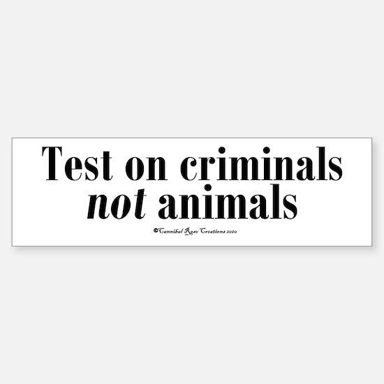 Criminal Behavior Bumper Car Car Sticker