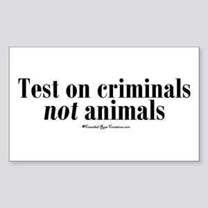 Criminal Behavior Rectangle Sticker