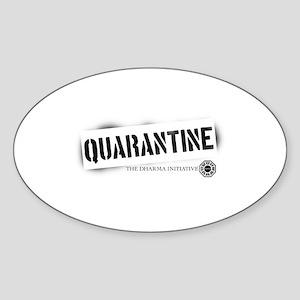 Quarantine - Dharma Initiative Oval Sticker