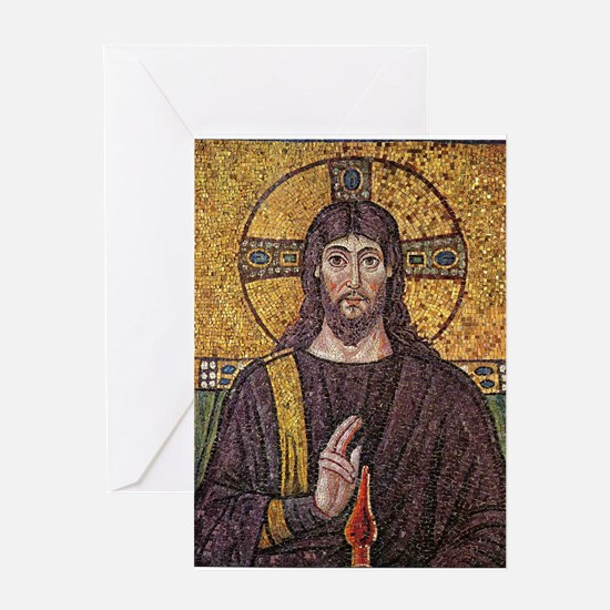 Jesus Christ Magnificent Ancient Mosaic Greeting C