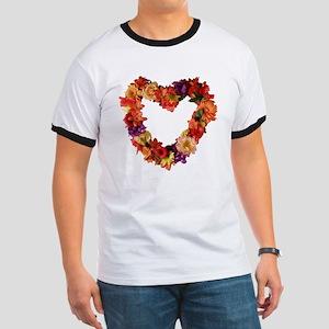 Heart of Flowers Ringer T