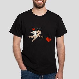 Black Haired Cupid Dark T-Shirt