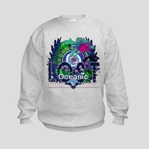 Lost Oceanic Heart Wings Kids Sweatshirt