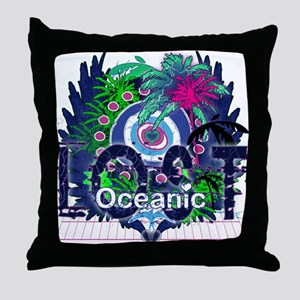 Lost Oceanic Heart Wings Throw Pillow