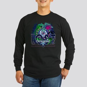 Lost Oceanic Heart Wings Long Sleeve Dark T-Shirt