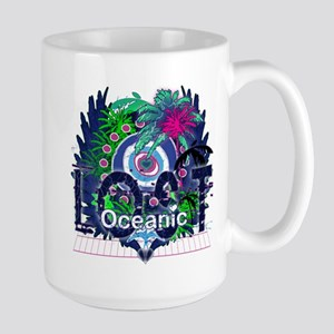 Lost Oceanic Heart Wings Large Mug