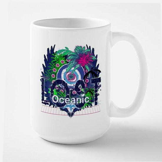 Lost Oceanic Heart Wings Large Mug