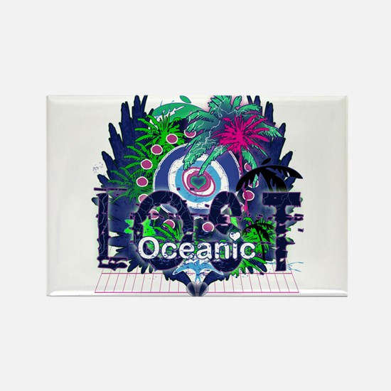 Lost Oceanic Heart Wings Rectangle Magnet