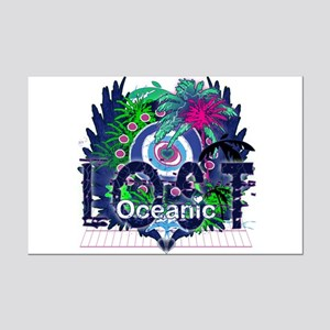 Lost Oceanic Heart Wings Mini Poster Print