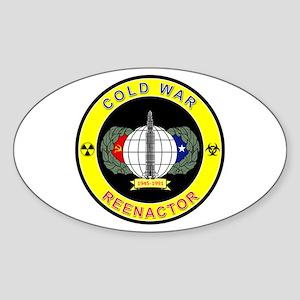 COLD WAR REENACTOR Sticker (Oval)