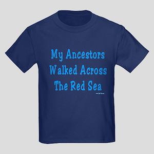 Red Sea Passover Kids Dark T-Shirt