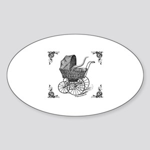 Steampunk Victorian cthulhu baby Oval Sticker