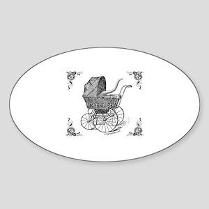 Steampunk Victorian cthulhu baby Oval Sticker