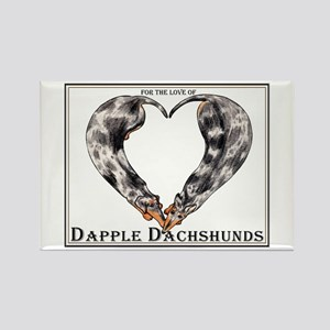 Love of Dapple Dachshunds Rectangle Magnet