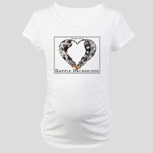Love of Dapple Dachshunds Maternity T-Shirt