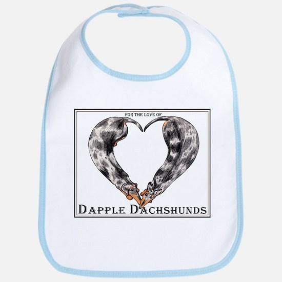 Love of Dapple Dachshunds Bib