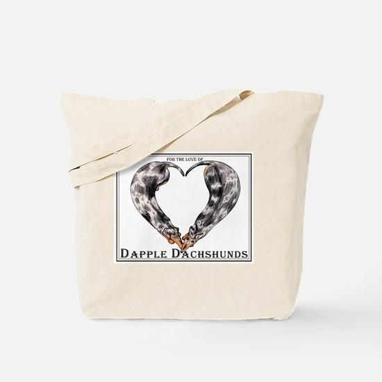 Love of Dapple Dachshunds Tote Bag