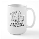 Alpaca 4 Black & White Large Mug