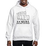 Alpaca 4 Black & White Hooded Sweatshirt