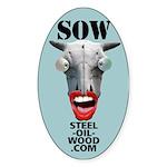 Steel Oil Wood Sticker (Oval)