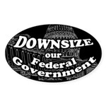 Downsize our Federal Government (Oval)