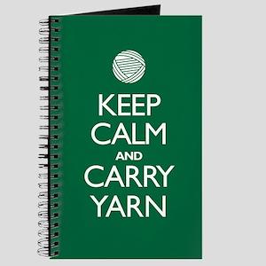 Green Keep Calm and Carry Yarn Journal