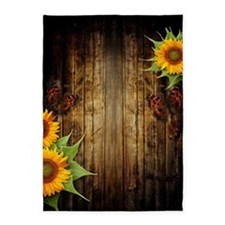 Butterflies And Sunflowers 5'x7'area Rug