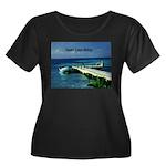 Belize Women's Plus Size Scoop Neck Dark T-Shirt