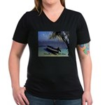 Belize Women's V-Neck Dark T-Shirt
