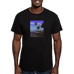 Belize Men's Fitted T-Shirt (dark)