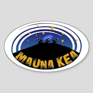 Mauna Kea Oval Sticker