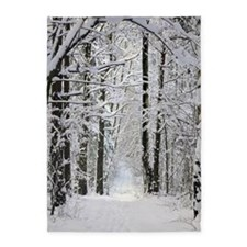 Winter Forest Path 5'x7'area Rug