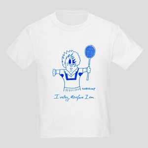 I VOLLEY, THEREFORE I AM. Kids Light T-Shirt