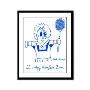 I VOLLEY, THEREFORE I AM. Framed Panel Print