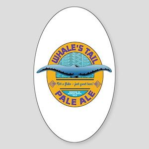 Whale's Tail Brew Oval Sticker