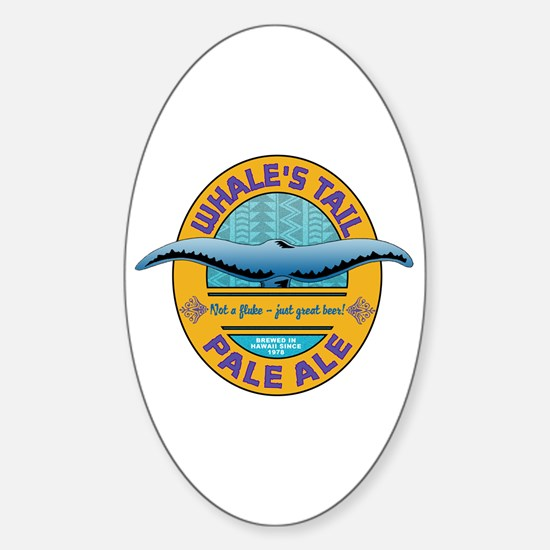 Whale's Tail Brew Oval Stickers