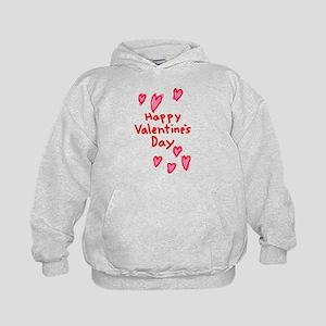 Valentines Hearts Kids Hoodie