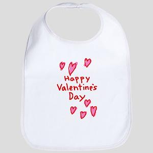 Valentines Hearts Bib