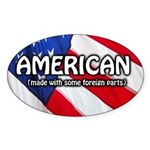 American: Made with some foreign parts (Oval)