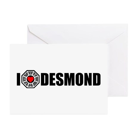 I Love Desmond - Dharma Greeting Cards (Pk of 10)