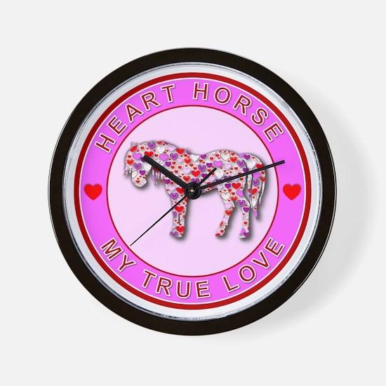 HEART HORSE - My True Love Wall Clock