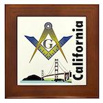 California Freemasons Framed Tile