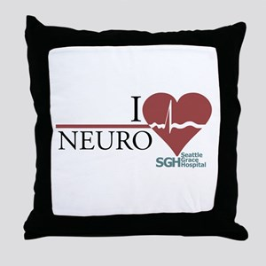 I Heart Neuro - Grey's Anatomy Throw Pillow