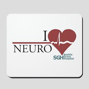 I Heart Neuro - Grey's Anatom Mousepad