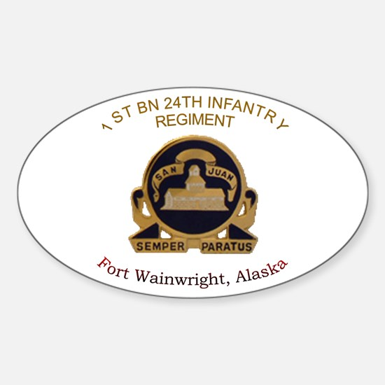 1st bn 24th inf Oval Decal